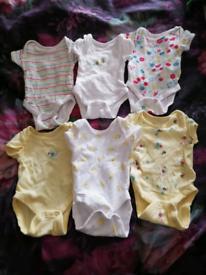 Pack of 6 Newborn Bodysuits