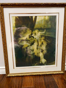 LAMENT FOR ICARUS Herbert Draper PRINT FRAMED nymphs MYTHICAL Cambridge Kitchener Area image 2
