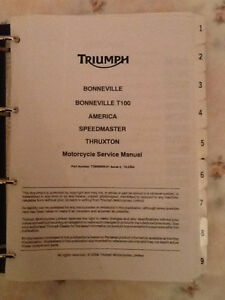 Triumph Motorcycle factory service manual