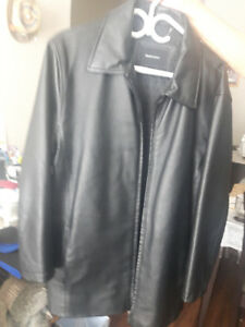 MEN'S BLACK LEATHER JACKET FOR SALE