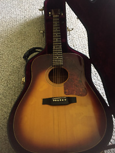 VINTAGE J 45 GIBSON ACOUSTIC GUITAR-with pickup & case