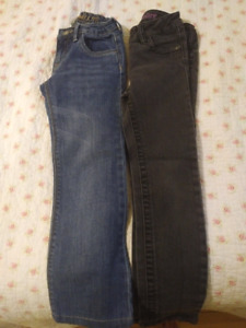 2 x Gently Worn Adjustable Jeans for Girls in Size 8