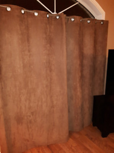 Brown coloured - Black out curtains - 3 SETS