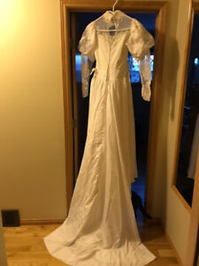 1980s vintage wedding gown for re-use or re-purpose