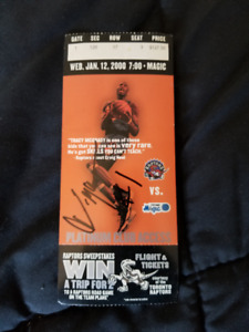 Tracy Mcgrady autographed ticket