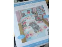 Brand new Tatty Teddy single bed cover set £10ono