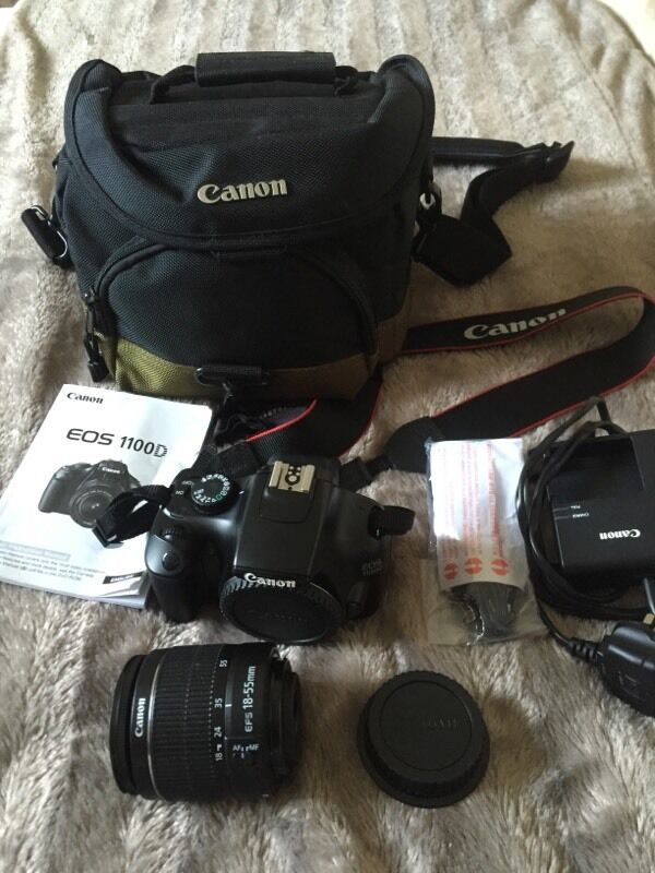 Canon EOS 1100D Camerain Rochester, KentGumtree - For Sale hardly usedCanon EOS 1100D cameraCanon 18 55mm lensCanon Battery with chargerInstructionsCanon camera strapCanon carry bag that fits all in perfect £180Welcome to come and testBrett07900735485