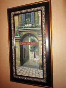 Streetscape oil canvas painting