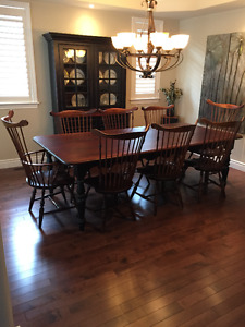 WINDSOR WORKSHOP DINING ROOM SUITE - 12 PIECES