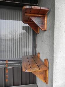 2 wooden shelves West Island Greater Montréal image 8