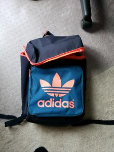 Pink & Dark Blue Adidas Backpack
