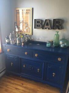 Buffet/ bahut/ vaisselier vintage revampé Chalk Paint (bar)