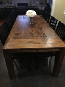 Rustic wood dining tables (WILL DELIVER)