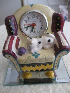MOM'S OLD VINTAGE ['60's] BEDSIDE ARM CHAIR ALARM CLOCK