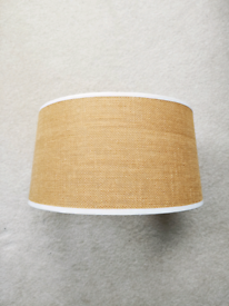 Table lampshade, hessian effect