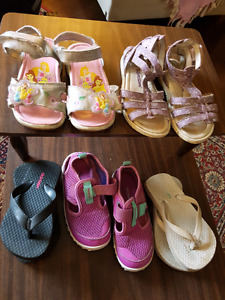 Girls sandals (all 5 pairs)
