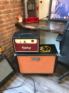Epiphone Valve Junior amp and Peavy amp with celestion 12""