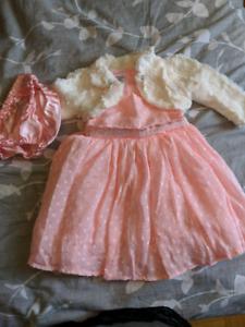 Baby girl 12-18 months dress set brand new