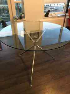 glass dining table - $100