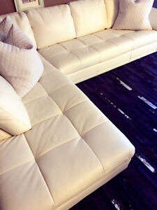 ALL LEATHER SECTIONAL