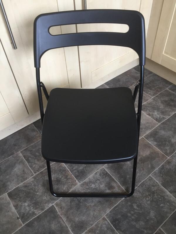 IKEA Folding Chairs 4 Available In Black In Walton Merseyside Gumtree