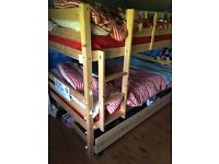 4ft Solid Pine Bunkbeds