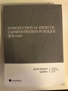 Introduction au droit de l'Administration Publique