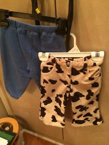 Boy's sweatpants size 12-18 months, Velour pants 18-24 months
