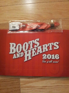Boots and Hearts full weekend pass wristband