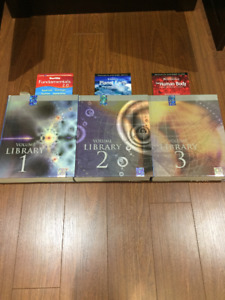 Set of three educational books up to grade 12 students