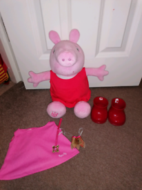 Peppa pig build a bear with sounds and outfits