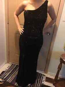 Black Sequin Prom Dress - Size 6-8