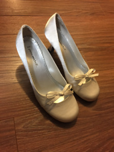 Pierre Michel White Satin Shoes - worn once