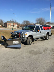 2013 f250 with tornado salter and v plow