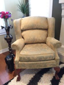 Antique Queen Anne Chair (very comfortable)