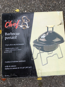 Master Chef Portable BBQ Charcoal NEW Unused