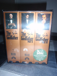 SEALED, 25TH ANNIVERSARY, THE GODFATHER I, II, III FOR SALE!!!