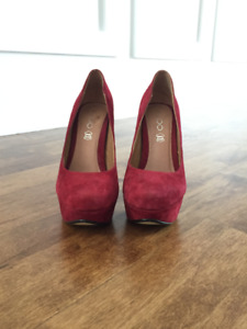 Red Suede leather heels
