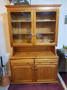 Pine buffet and hutch - solid wood