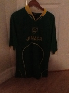 Jamaican Olympic soccer jersey embroidered raise lettering