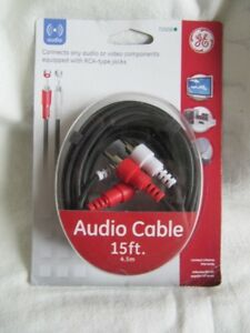 4.5 M RCA  SHIELDED AUDIO CABLES