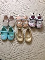 Baby girl shoes 6 for $20 !!