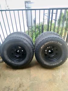 4x 16x7 rims with tyres