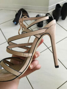 NUDE STRAPPY HEELS - CALL IT SPRING [WOMENS SIZE 6]