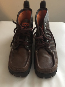 MENS BROWN LEATHER BOOTS BY MAG