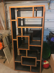 Matching Solid Wood Oriential Shelves