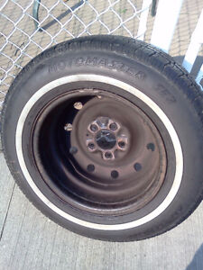 P215/70R15 Set of 4 tires mounted on rims