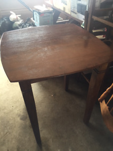 Wooden Bistro Table with two chairs