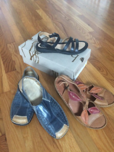 Size 8 new Born sandals and will throw in 2 Josef Siebel pairs