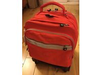 Kipling runner red wheeled large backpack